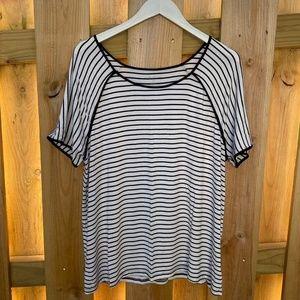 Lane Bryant Striped black white shirt rayon